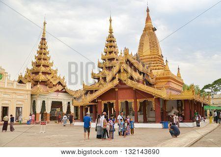 Bagan Myanmar - April 22 2016 : Shwezigon Pagoda in Myanmar