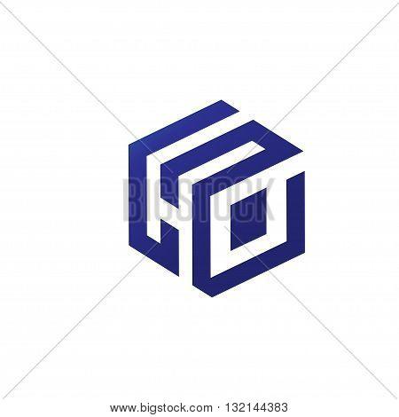 strong elegant letter H box 3d design concept