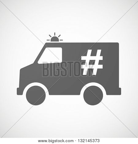 Isolated Ambulance Icon With A Hash Tag