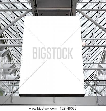 Mock up of blank light box