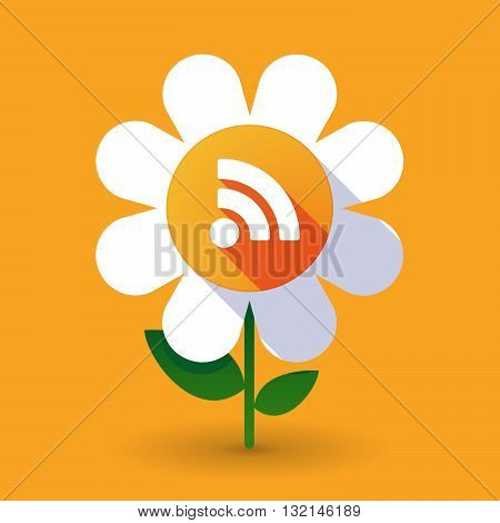 Vector Flower With An Rss Sign