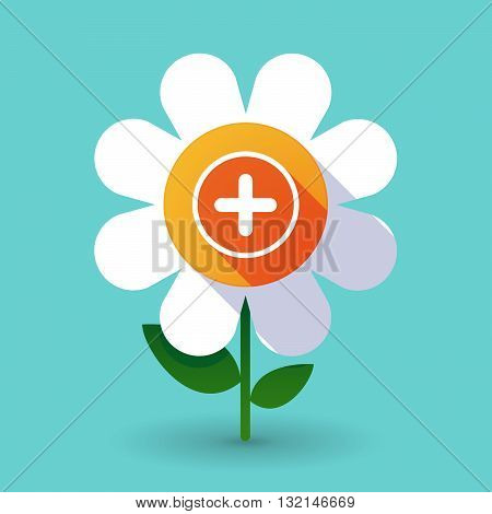 Vector Flower With A Sum Sign