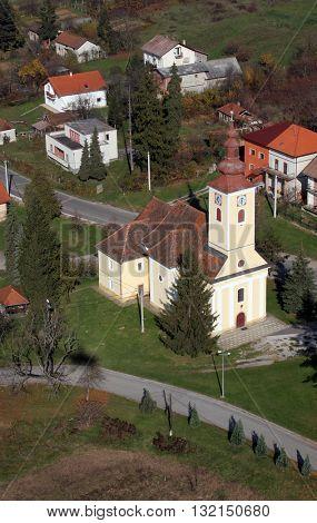 VUGROVEC, CROATIA - NOVEMBER 07: Parish Church of Saint Francis Xavier in Vugrovec, Croatia on November 07, 2007