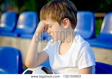 Disappointed Little Football Fan