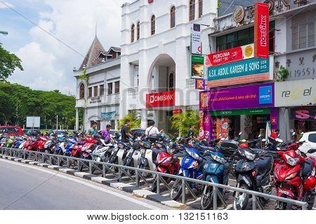 Scooters In Kuching, West Sarawak, Borneo, Malaysia