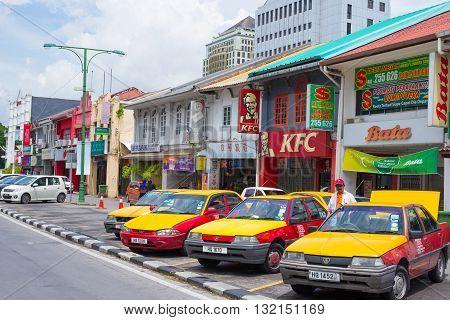 Taxis In Kuching, West Sarawak, Borneo, Malaysia