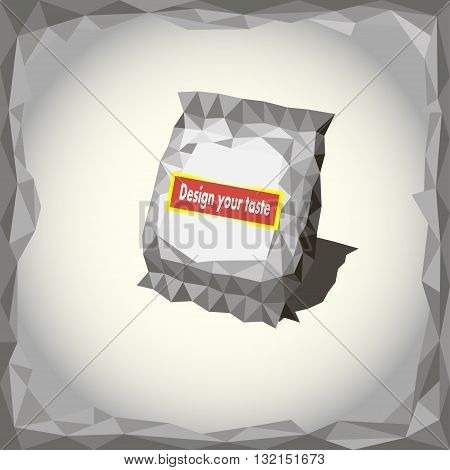 Vector illustration of gray pack in an abstract style