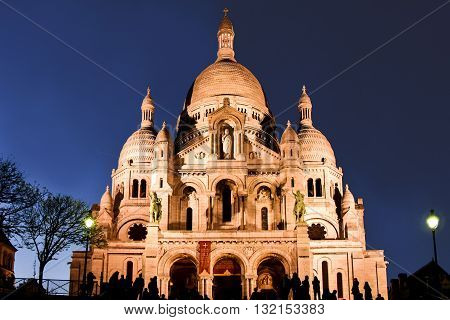 View of the Basilica Sacre Coeur in Paris. Editorial