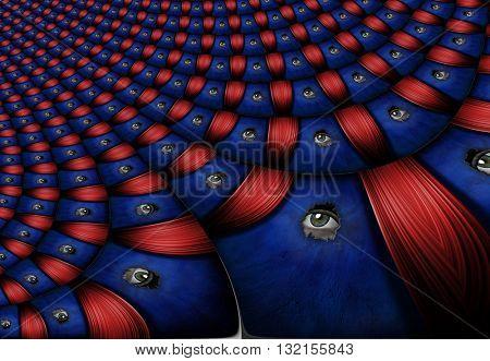 Peeping Eyes 3D Render