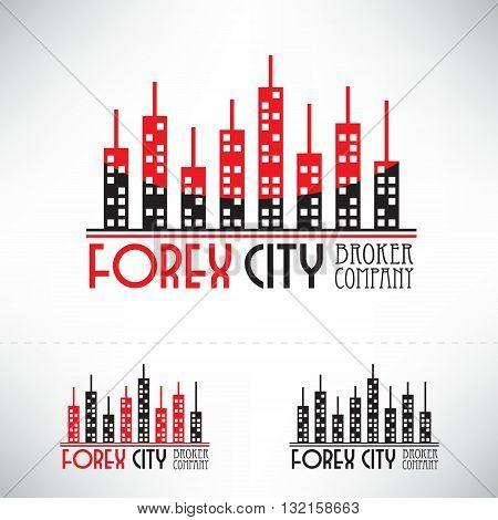 Forex logo design. Broker company logotype concept icon.