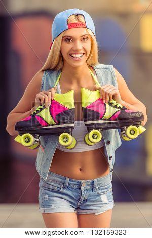 Beautiful Roller Skater Girl