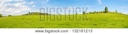 Rural Landscape Panorama - Eseslburger Tal, Swabian Alps