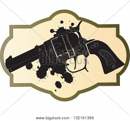 Classic Wild West hand guns - vector illustration