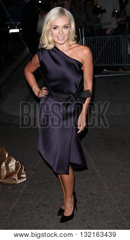 LONDON, UK - OCTOBER 7, 2013: Katherine Jenkins attends the Pride of Britain awards at Grosvenor House taken in a public area in London