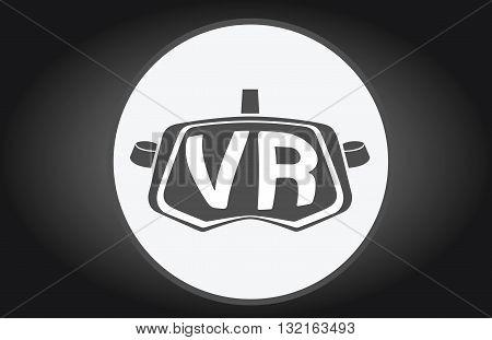 VR Virtual reality glasses simple  flat icon