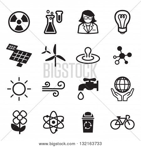 Save world icon set vector graphic design symbol