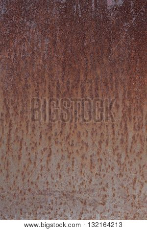 Texture of old rusty metal and brown paint