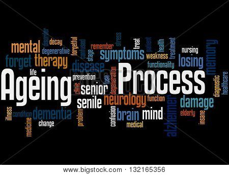 Ageing Process, Word Cloud Concept