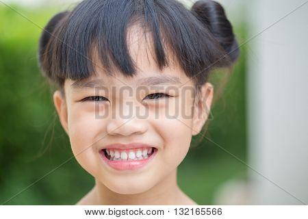 iImage portrait  littlegirl , children feeling happy