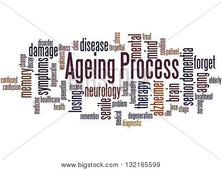 Ageing Process, Word Cloud Concept 6