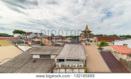 Cityscape of Kuching capital of West Sarawak Borneo Malaysia