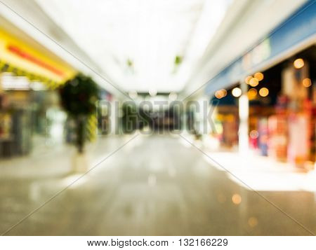 Abstract Background Of Shopping Mall, Shallow Dof