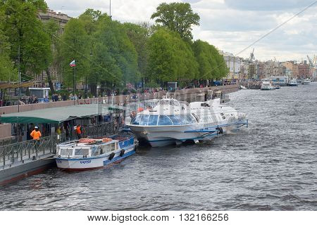 SAINT PETERSBURG, RUSSIA - MAY 24, 2015: Arrived from Peterhof