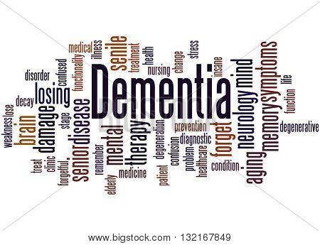 Dementia, Word Cloud Concept 3