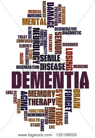 Dementia, Word Cloud Concept 9