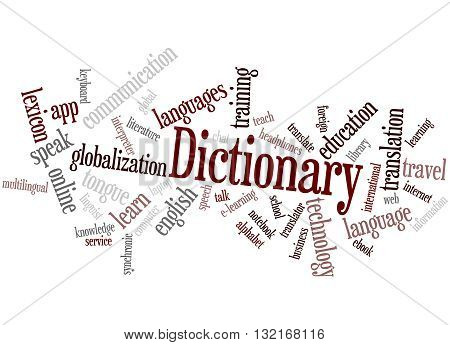 Dictionary, Word Cloud Concept 3
