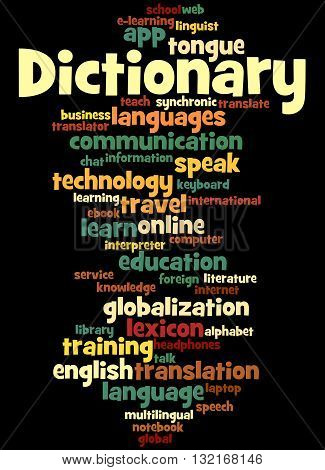 Dictionary, Word Cloud Concept 4