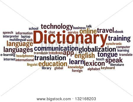 Dictionary, Word Cloud Concept 6