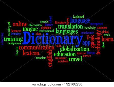 Dictionary, Word Cloud Concept 7
