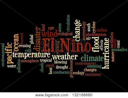 El Nino, Word Cloud Concept 2