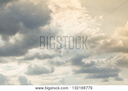 Blue sky and cloud in good weather days. Sky and cloud background. Beautiful sky in the morning.