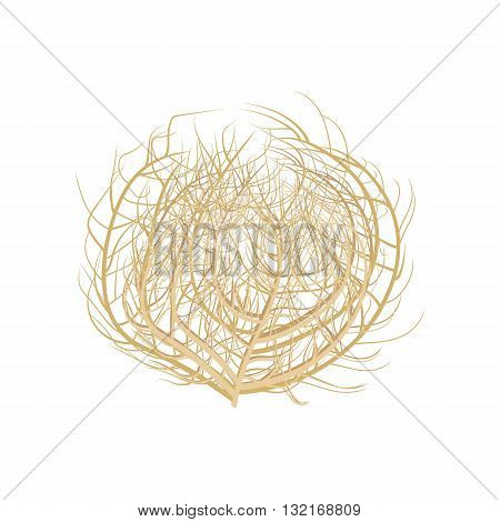 Tumbleweed vector illustration .Tumbleweed on white background. Tumbleweed isolated vector