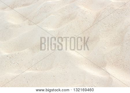 White beach closeup of sand pattern of a beach