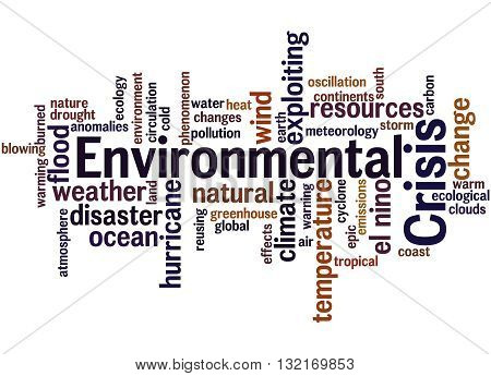 Environmental Crisis, Word Cloud Concept
