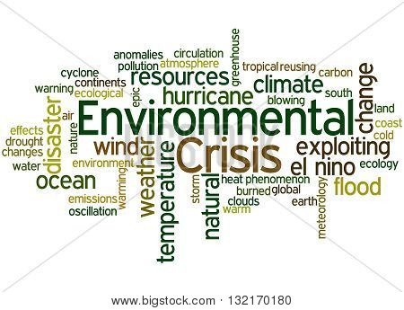 Environmental Crisis, Word Cloud Concept 9