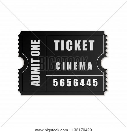 Vector Admit One ticket icon on white background
