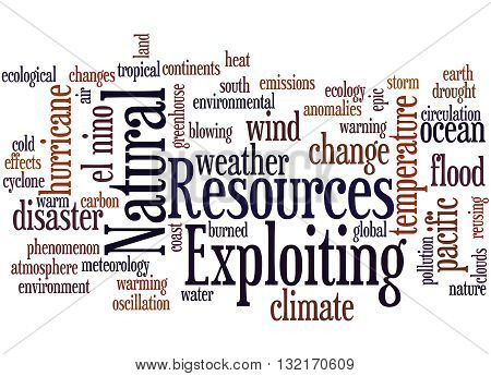 Exploiting Natural Resources, Word Cloud Concept 2