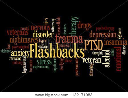 Flashbacks, Word Cloud Concept 5