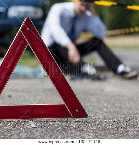 Driver After Car Crash