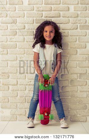 Pretty Little Afro American Girl