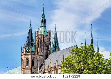 The Catholic Erfurt Cathedral