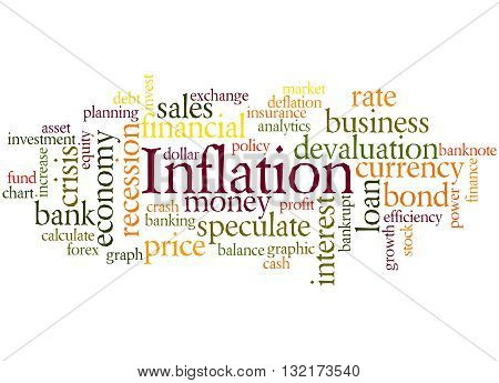 Inflation, Word Cloud Concept 7
