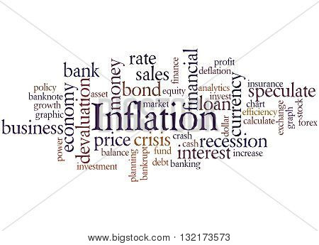 Inflation, Word Cloud Concept 8