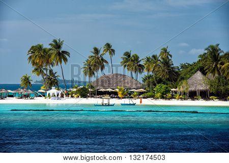 Maldives White Sand Paradise Resort Beach View