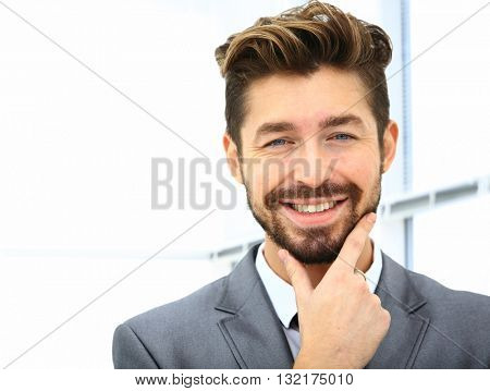 Man smiling in the office