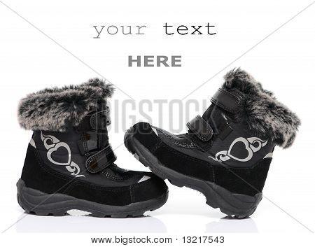 Black Child's Winter Boots